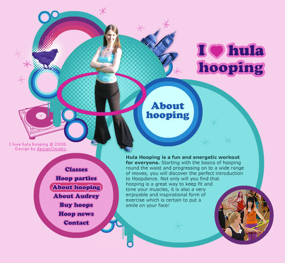I love hula hooping
