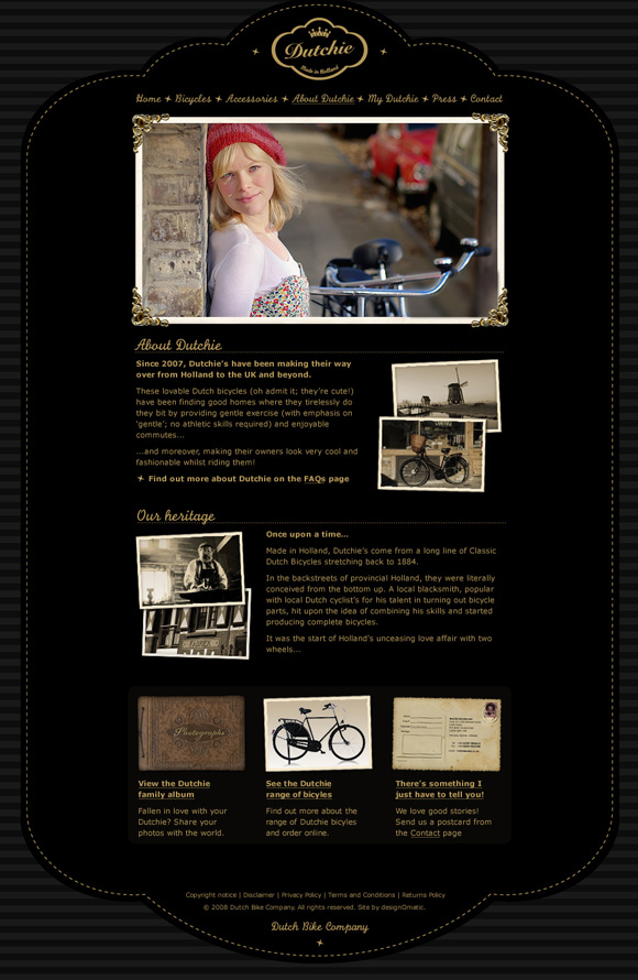 Dutchie Bicycles – website About Dutchie