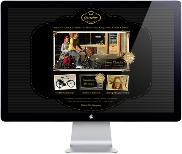 Dutchie Bicycles – website Home page