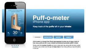 Puff-o-meter app site