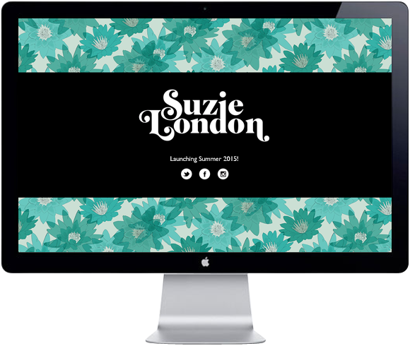 Suzie London website, launching Summer 2015