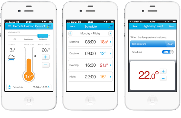 British Gas Remote Heating Control App