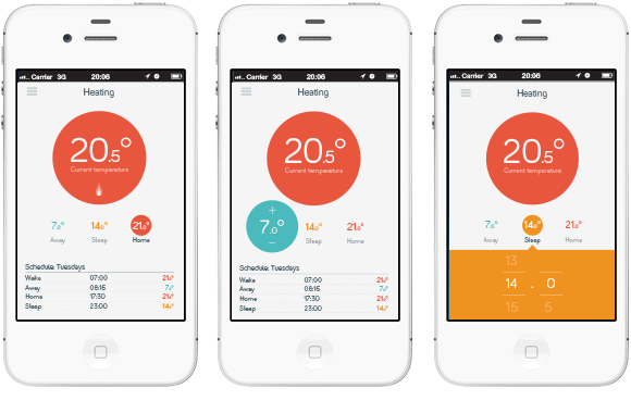 Hive Active Heating – app prototypes