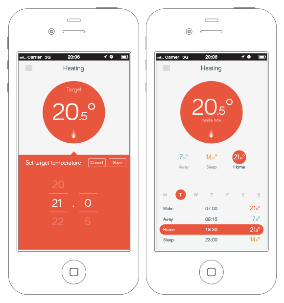 Hive Active Heating – App Prototype